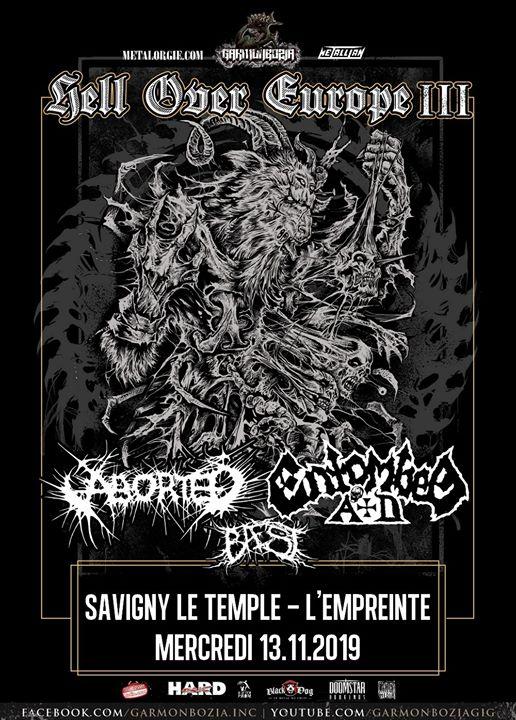Entombed AD / Aborted, Baest // Savigny-le-Temple