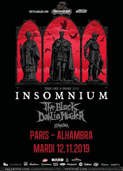 Insomnium, The Black Dahlia Murder, Stam1na // Paris