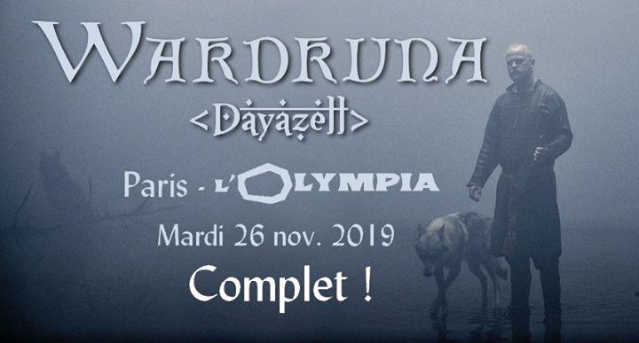 Wardruna & Dayazell à L'Olympia • 26 novembre 2019 • complet !