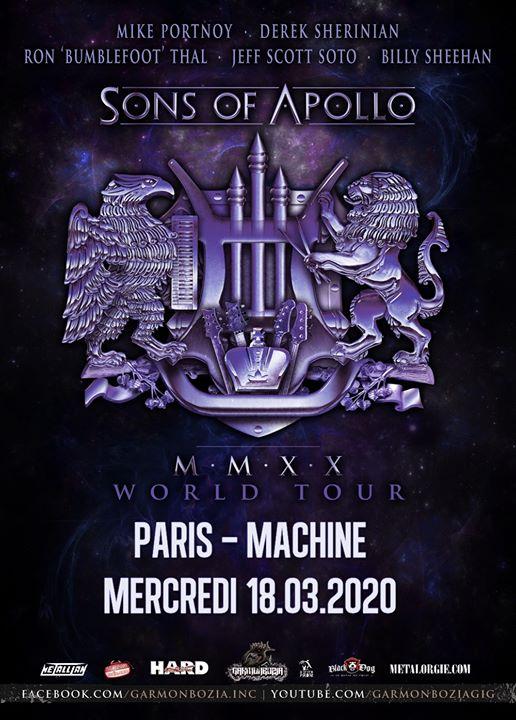 Sons Of Apollo, Noturnall // Paris