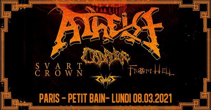 Atheist, Cadaver, Svart Crown, From Hell & Typhus // Paris