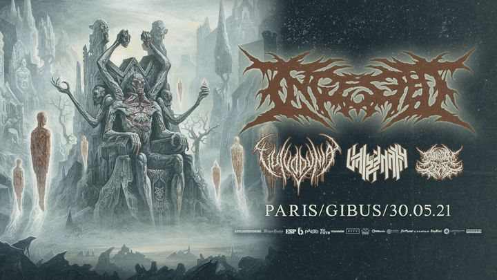 Ingested, Vulvodynia, Vale of Pnath, Bound in Fear @Paris//Gibus