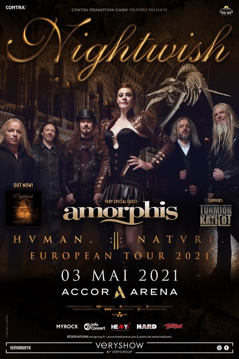 Nightwish à l'AccorHotels Arena !
